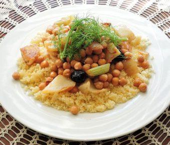 Couscous met kikkererwten
